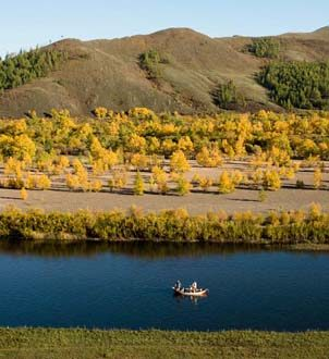 Mongolia River Clackacraft Fishing